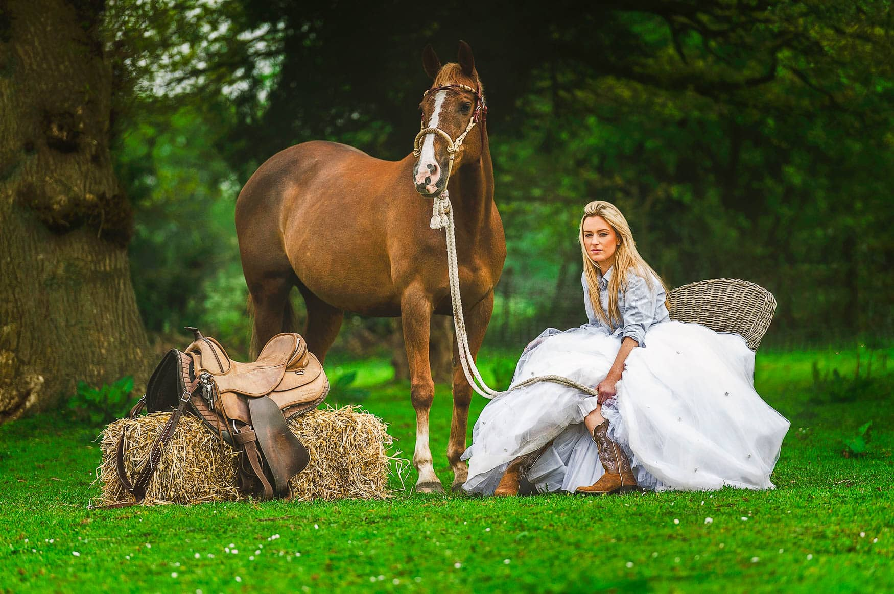 Country and Western style horse photography - Wirral