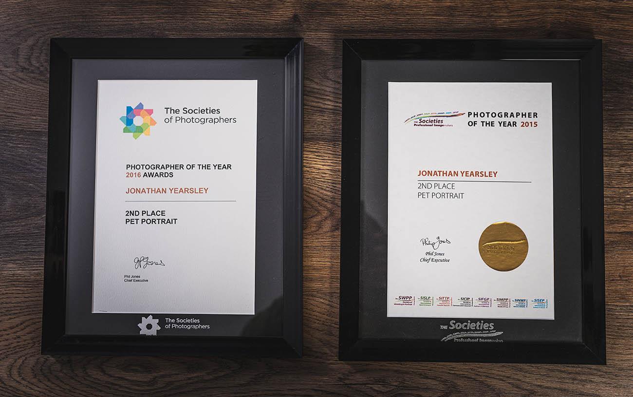 The Socieities awards certificates